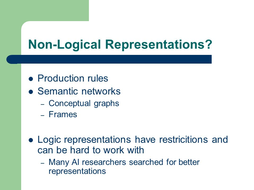 Non-Logical Representations