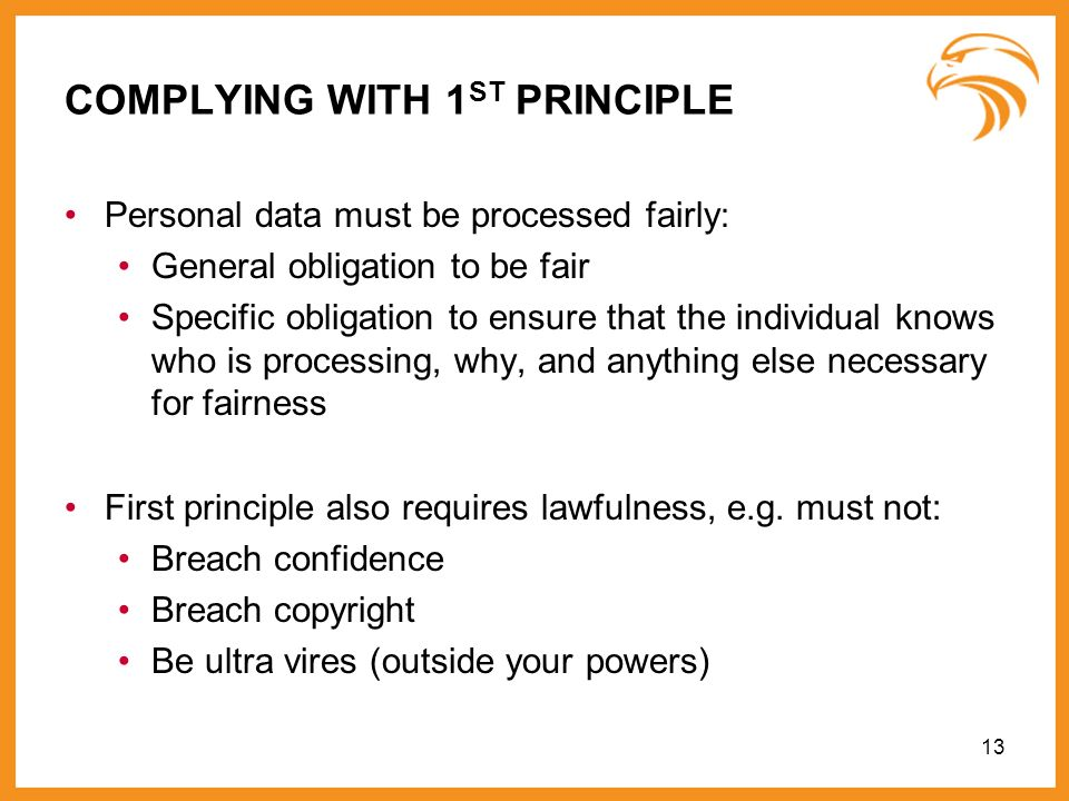 COMPLYING WITH 1ST PRINCIPLE