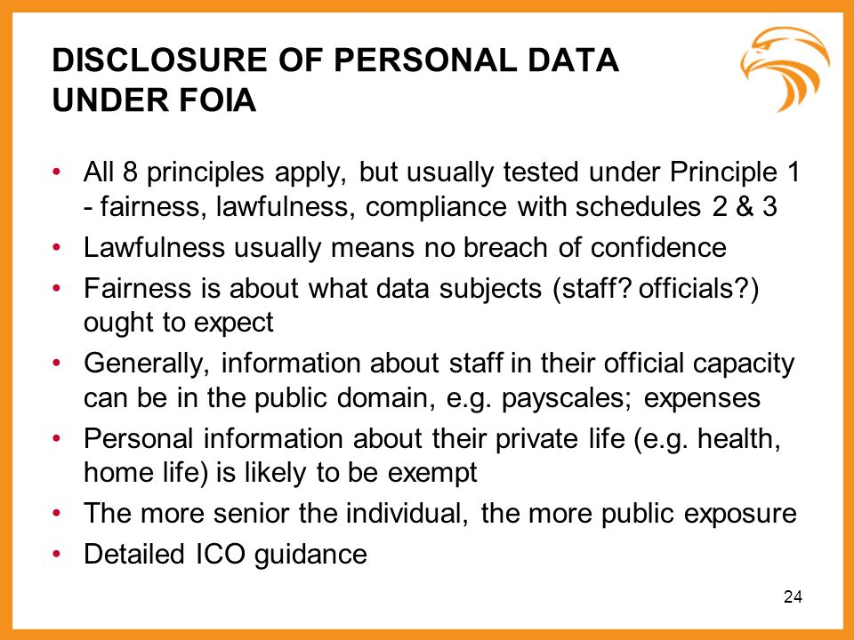 DISCLOSURE OF PERSONAL DATA UNDER FOIA