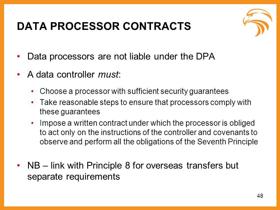 DATA PROCESSOR CONTRACTS
