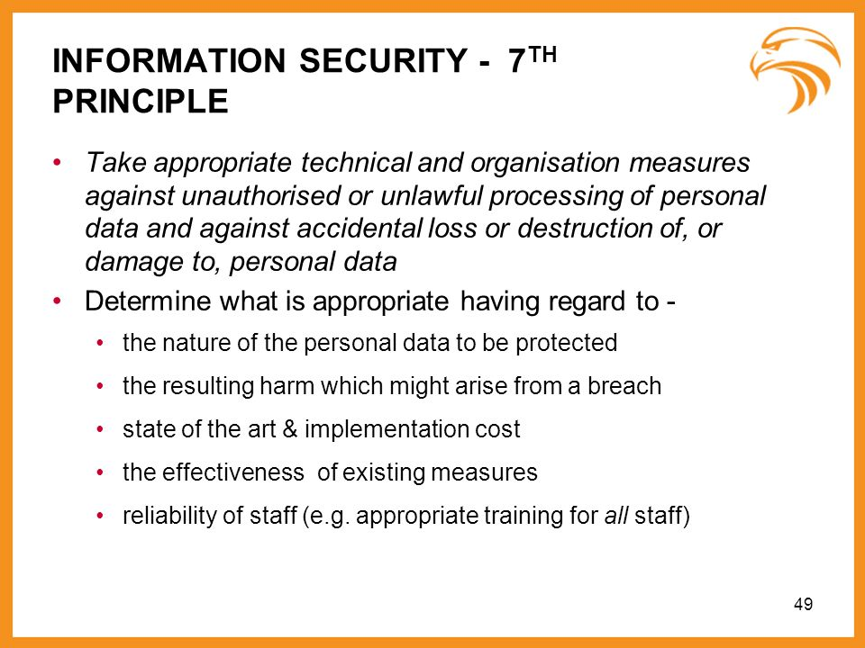 INFORMATION SECURITY - 7TH PRINCIPLE