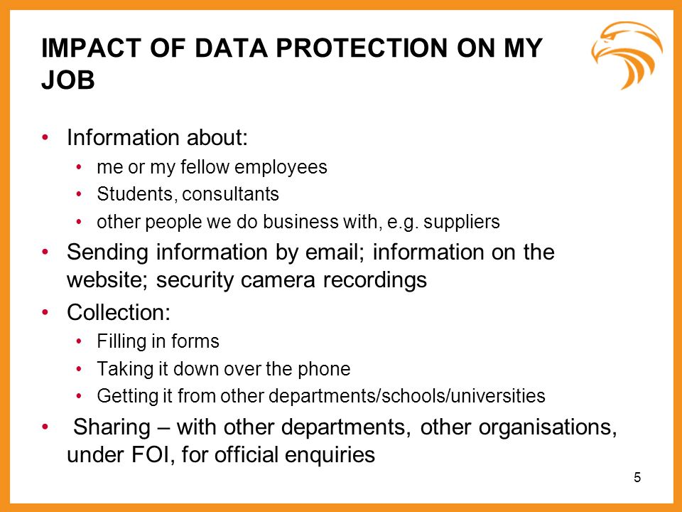 IMPACT OF DATA PROTECTION ON MY JOB