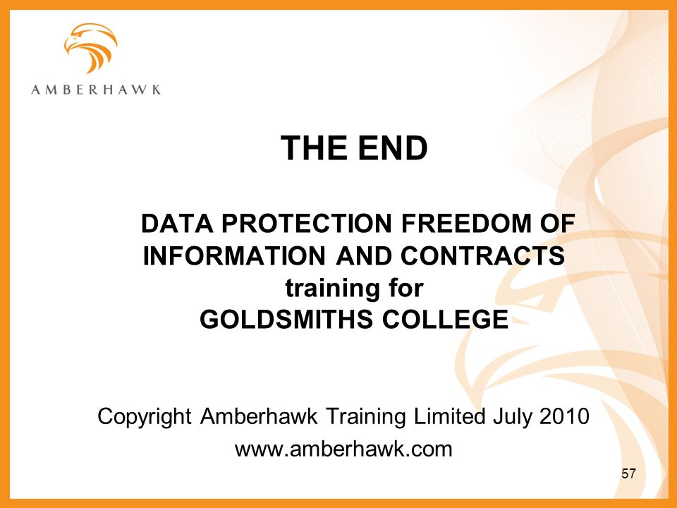 Copyright Amberhawk Training Limited July 2010 www.amberhawk.com