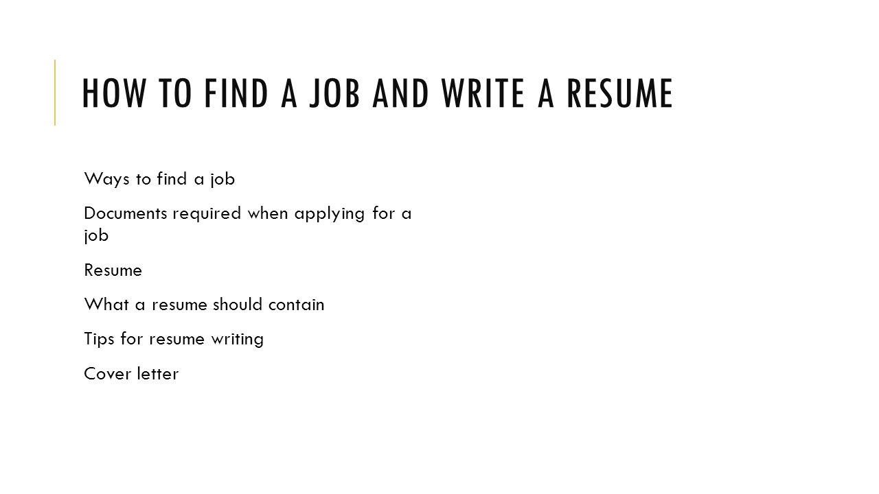 How To Write A Summary About Yourself Resume
