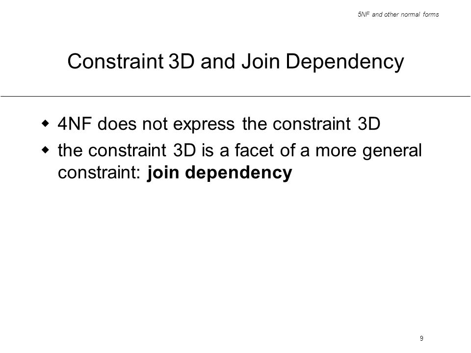 Constraint 3D and Join Dependency