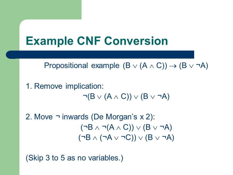 Example CNF Conversion