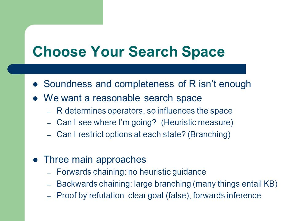 Choose Your Search Space