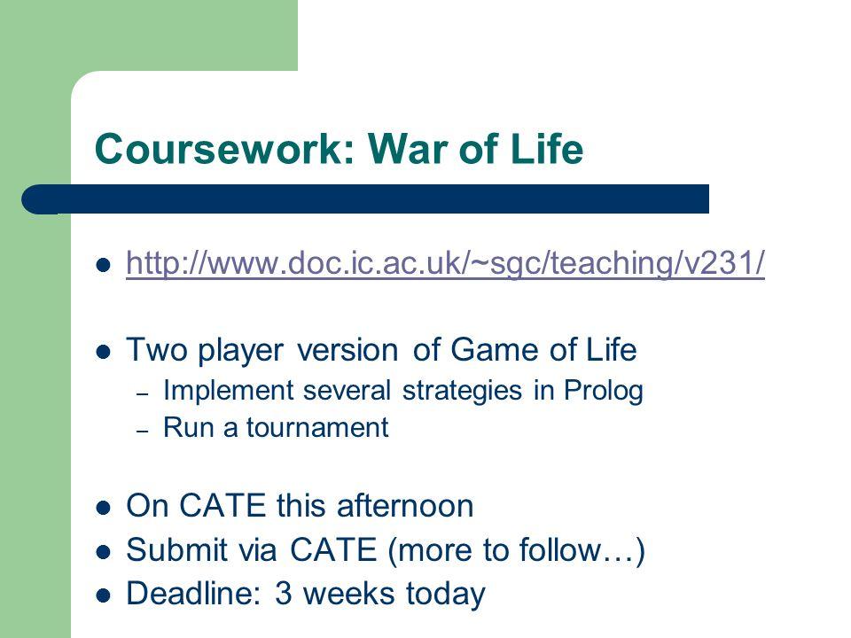 Coursework: War of Life