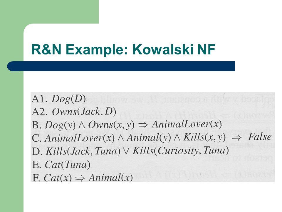 R&N Example: Kowalski NF