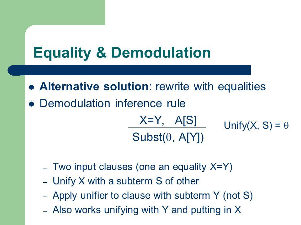 Equality & Demodulation