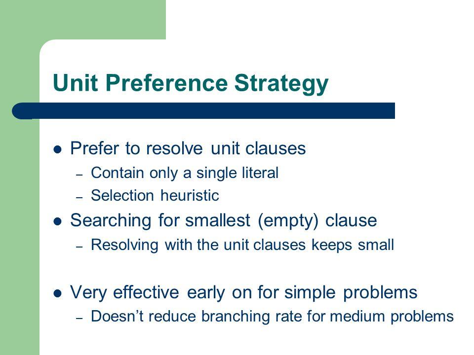 Unit Preference Strategy