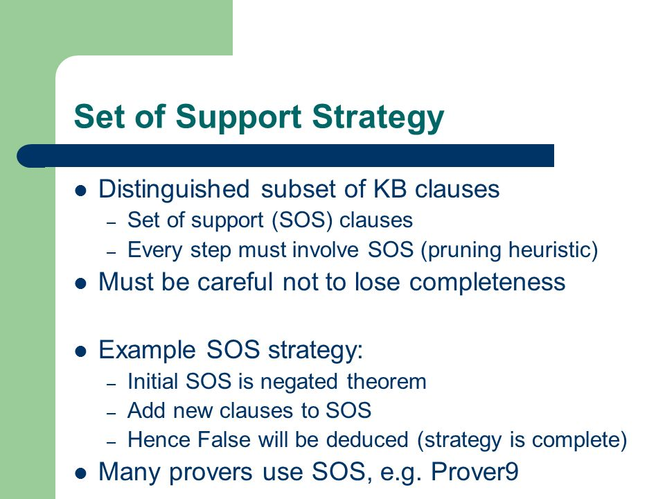 Set of Support Strategy