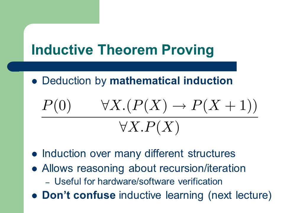 Inductive Theorem Proving