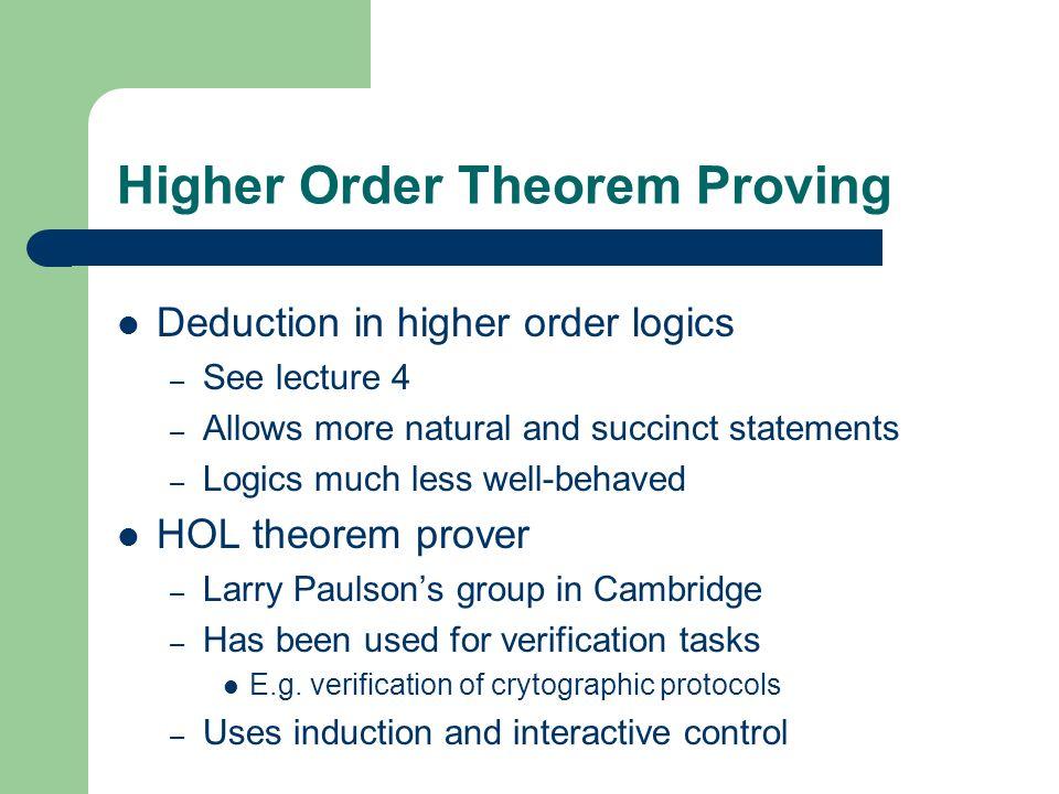 Higher Order Theorem Proving