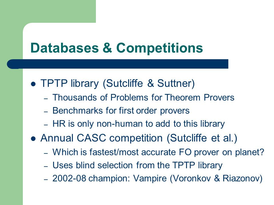 Databases & Competitions
