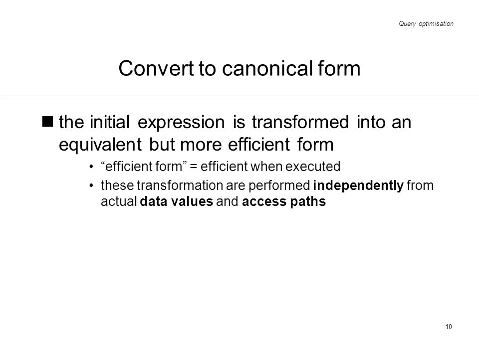 Convert to canonical form