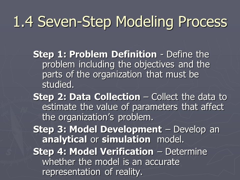 1.4 Seven-Step Modeling Process