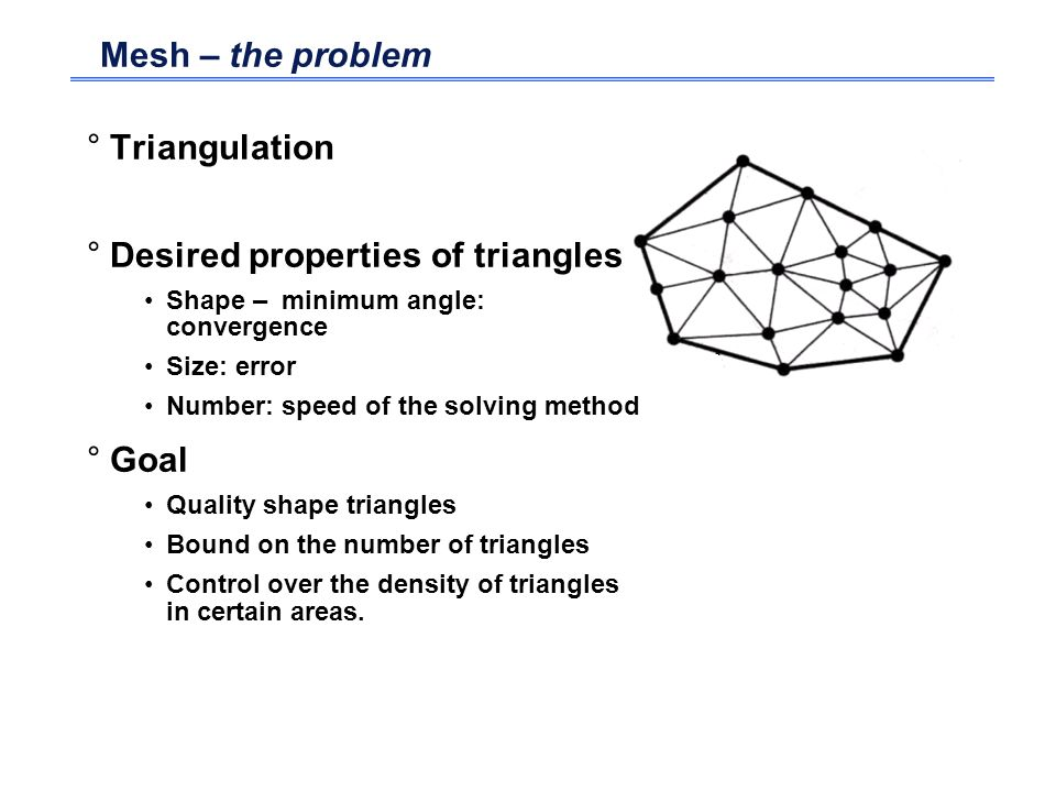 Desired properties of triangles