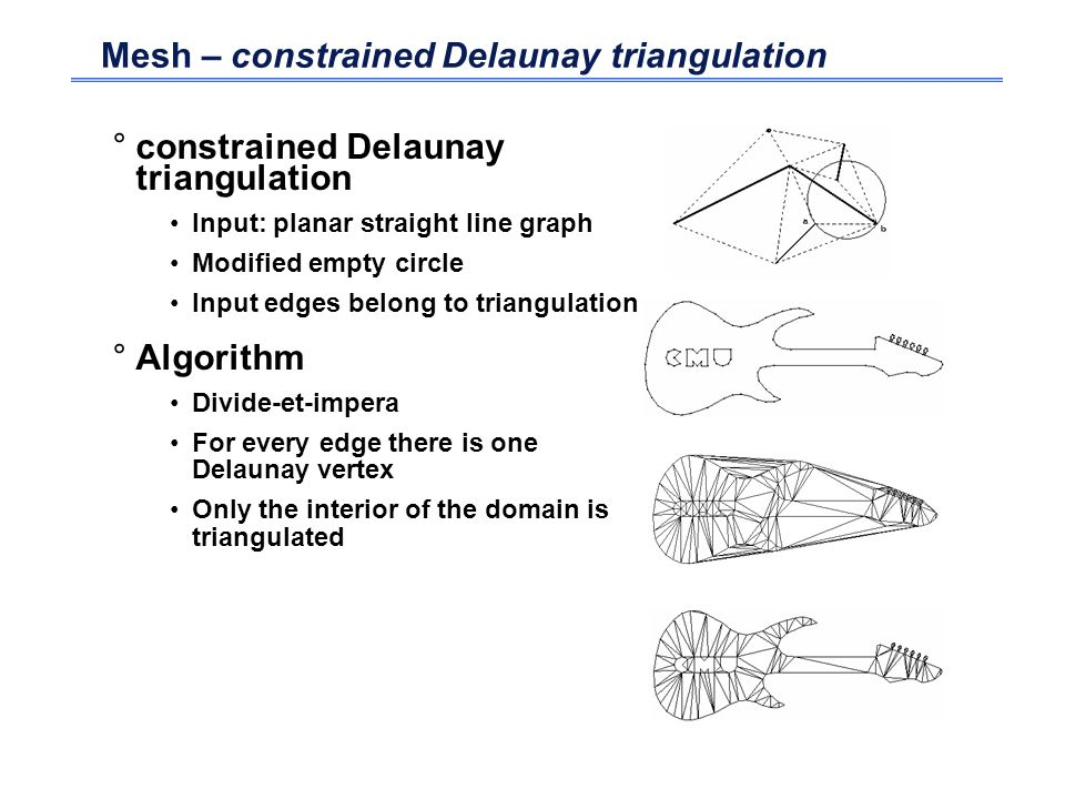 Mesh – constrained Delaunay triangulation