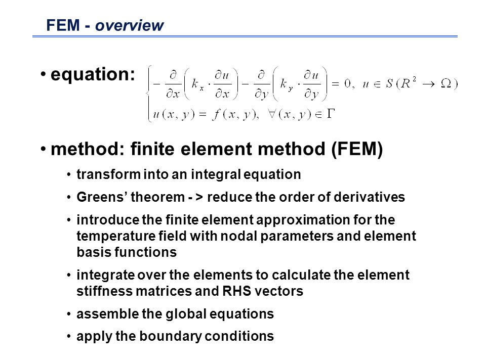 method: finite element method (FEM)