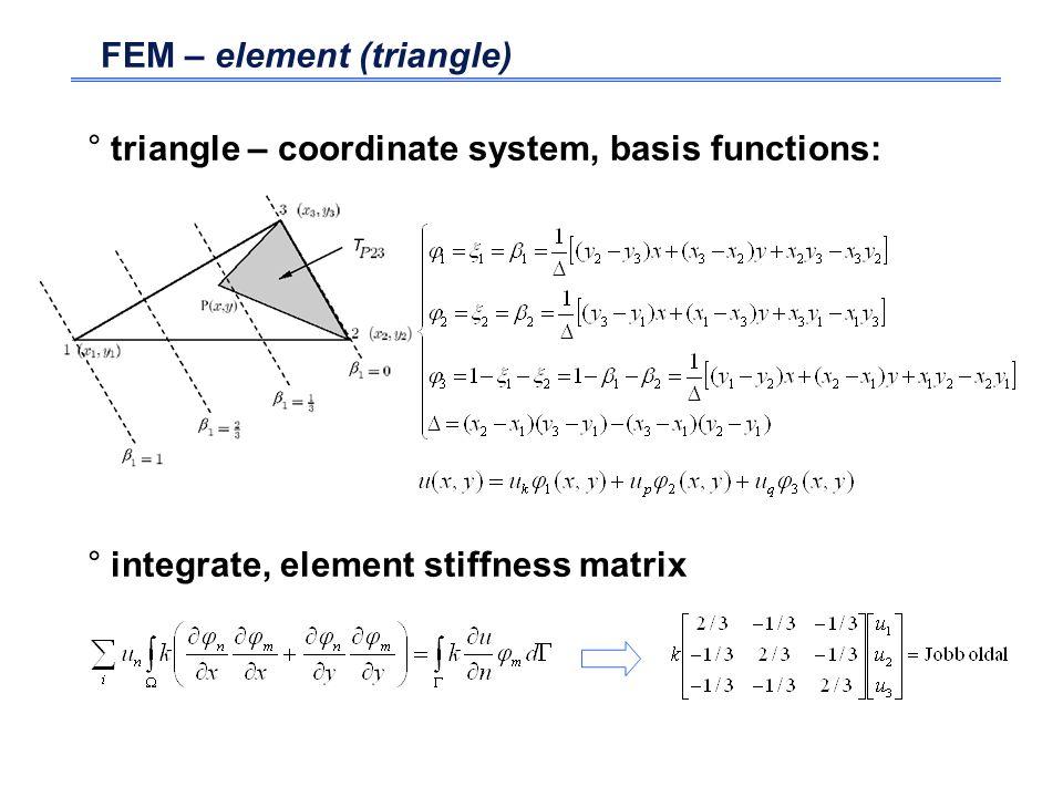 FEM – element (triangle)