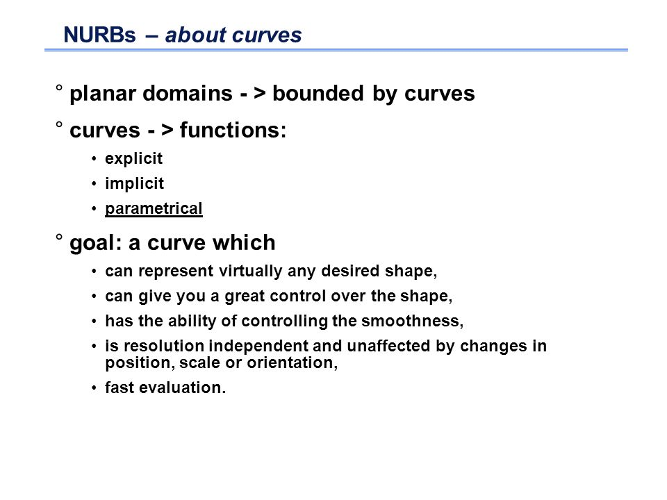 planar domains - > bounded by curves curves - > functions: