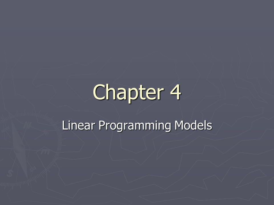 Linear Programming Models