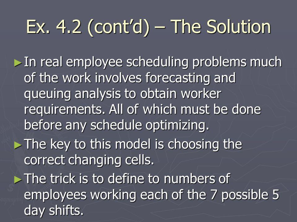 Ex. 4.2 (cont'd) – The Solution