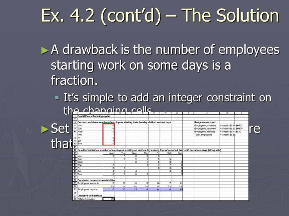 Ex. 4.2 (cont'd) – The Solution