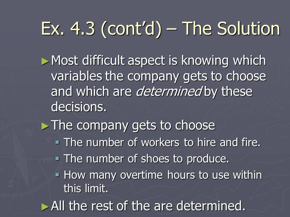 Ex. 4.3 (cont'd) – The Solution