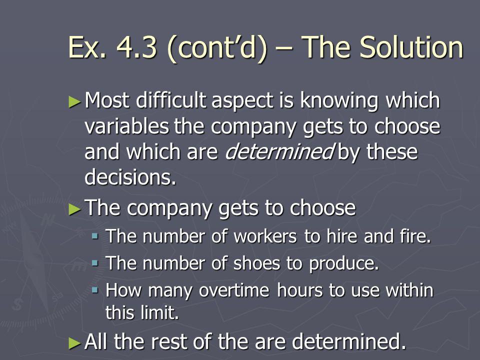 Ex. 4.3 (cont'd) – The Solution