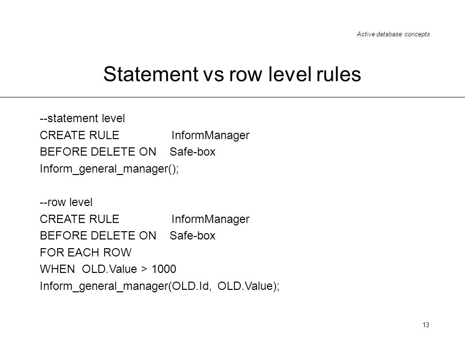 Statement vs row level rules