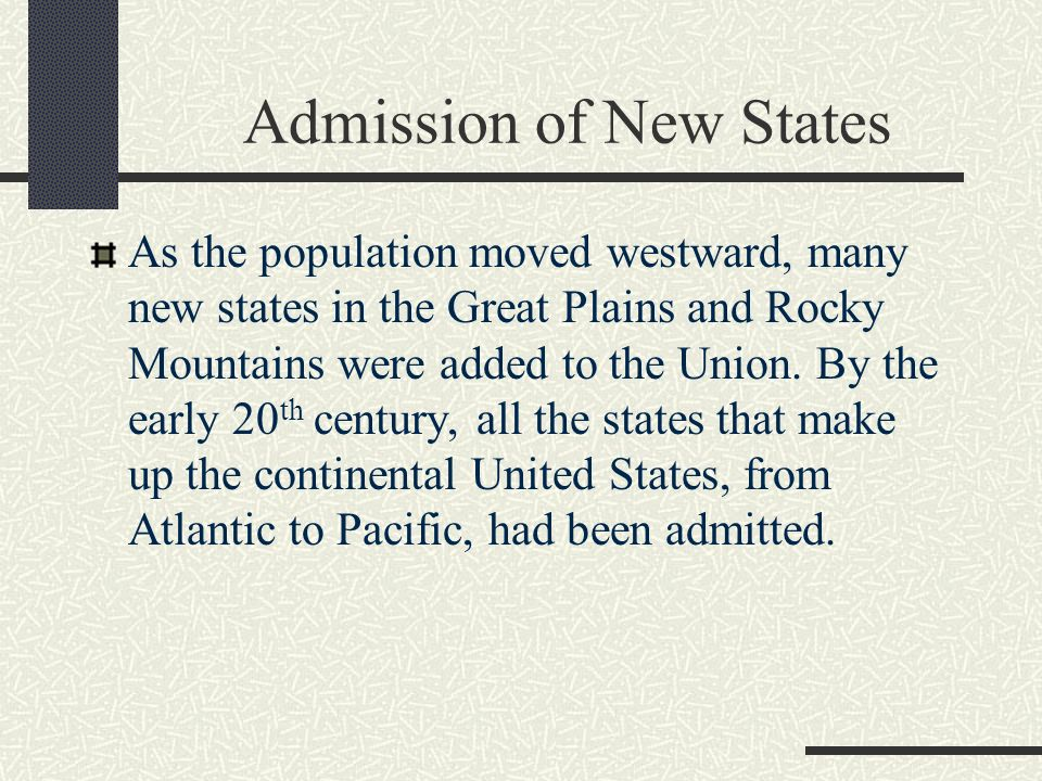 Admission of New States