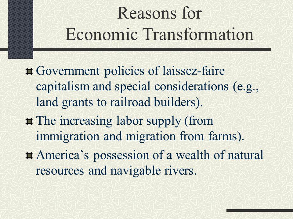 Reasons for Economic Transformation