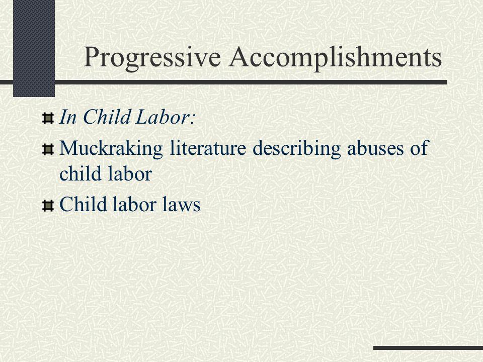 Progressive Accomplishments