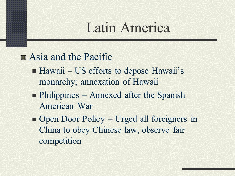 Latin America Asia and the Pacific
