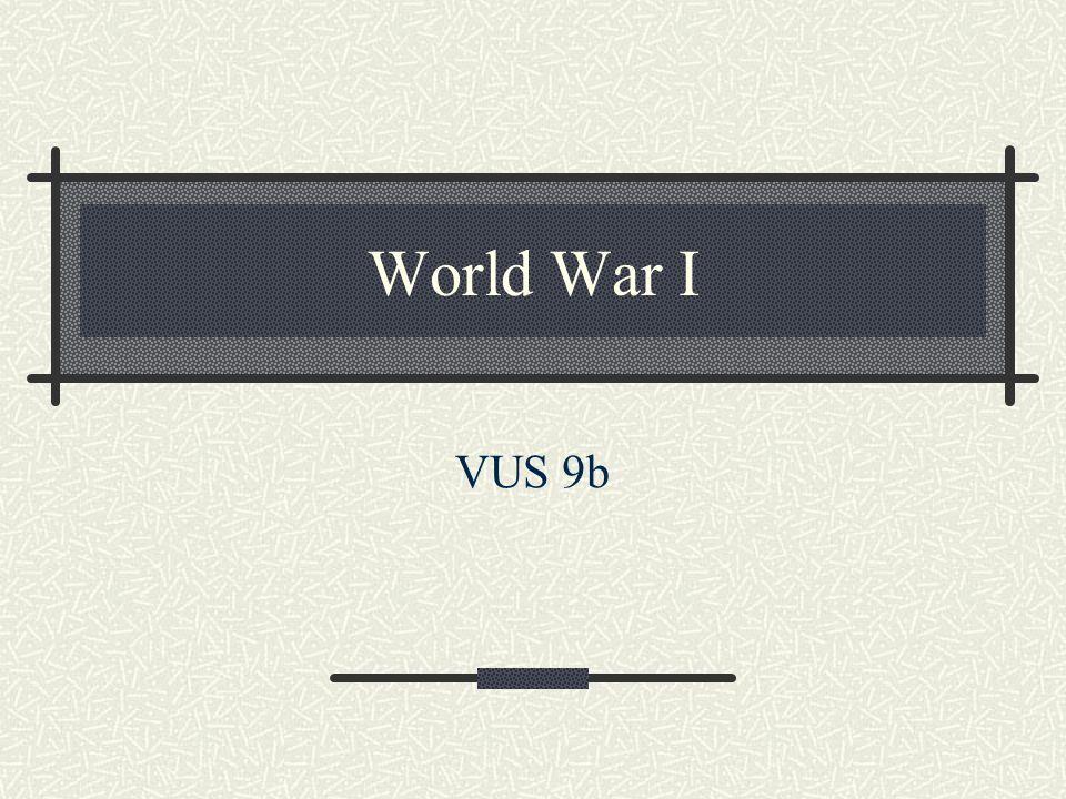 World War I VUS 9b