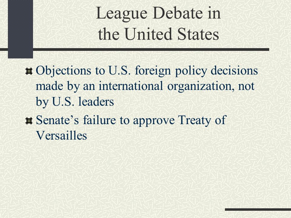 League Debate in the United States
