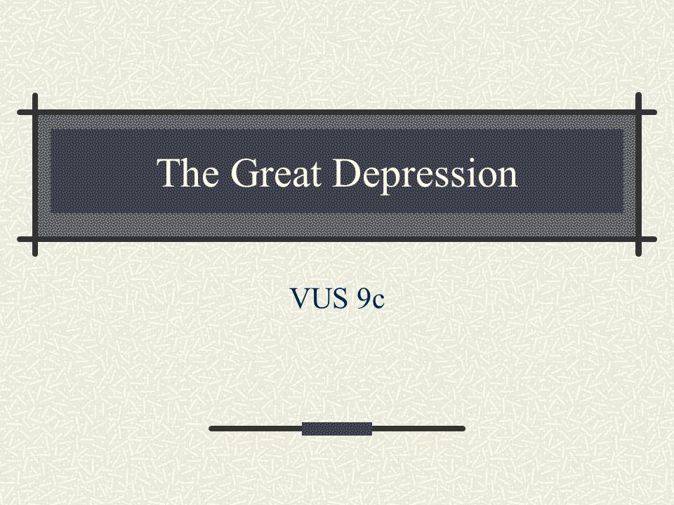 The Great Depression VUS 9c