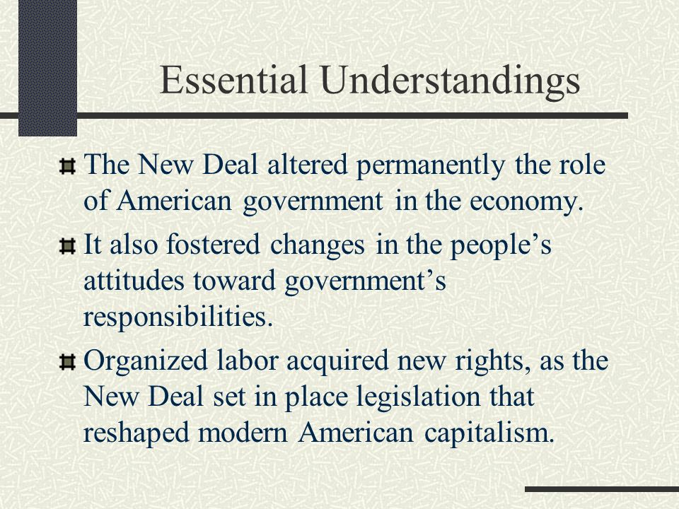 Essential Understandings