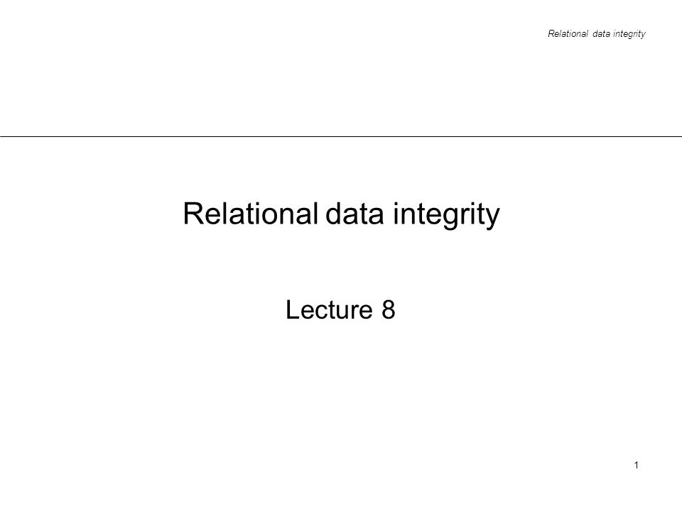 Relational data integrity
