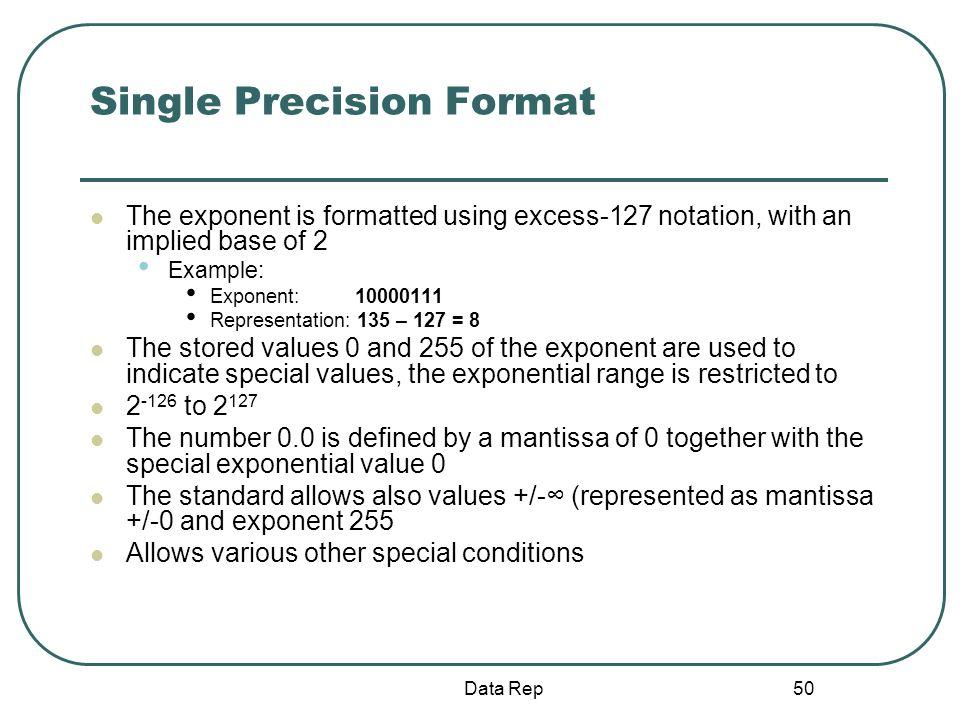Single Precision Format