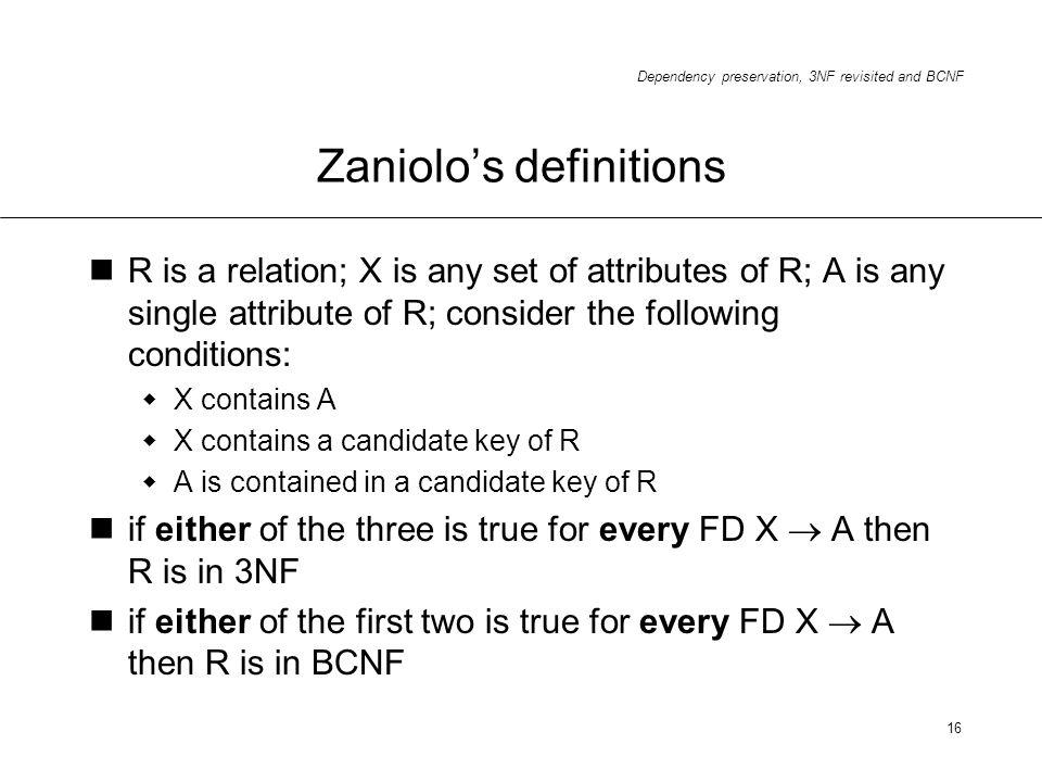 Zaniolo's definitions
