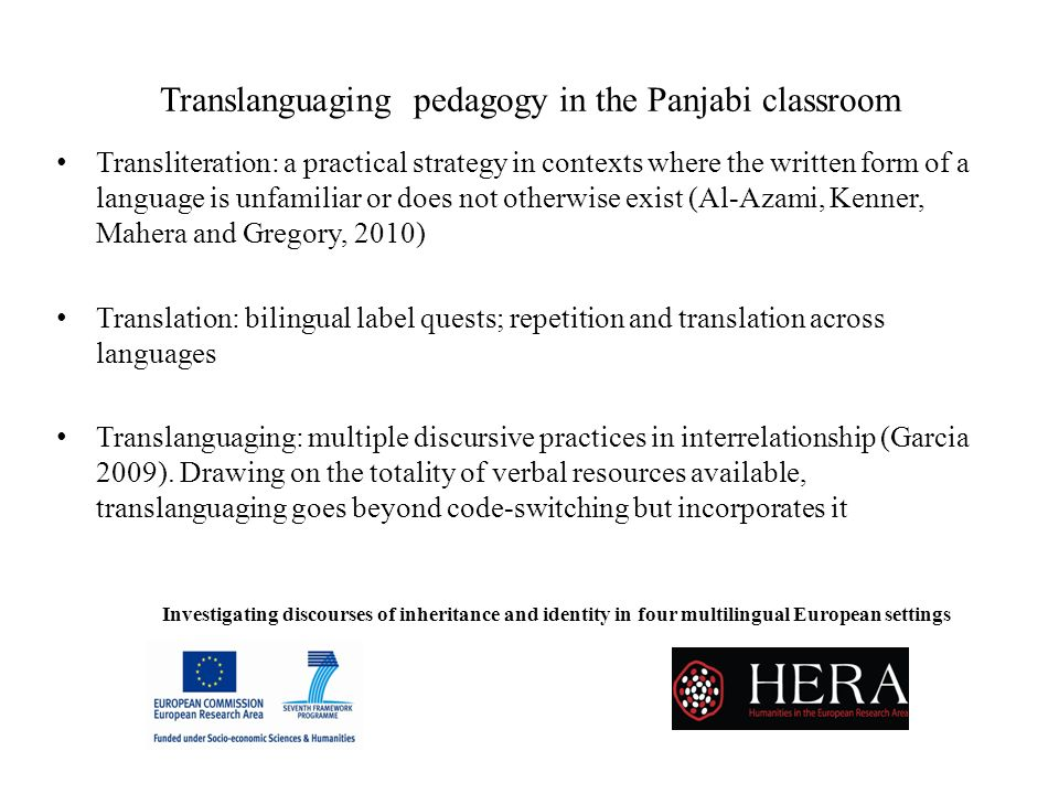 Translanguaging pedagogy in the Panjabi classroom