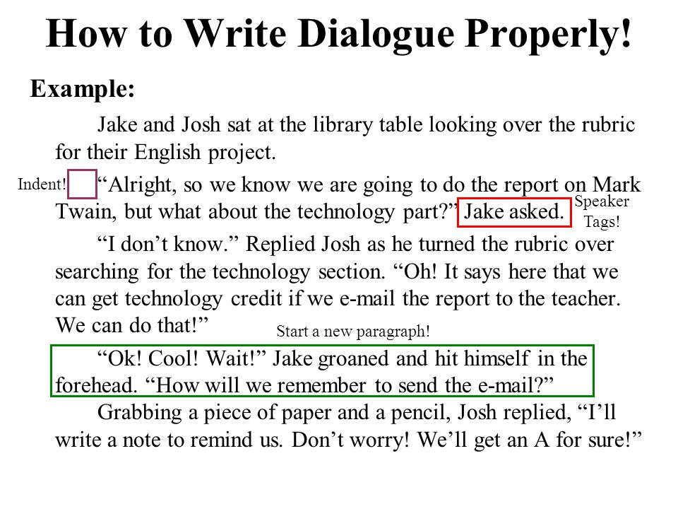 How to properly use dialogue in an essay