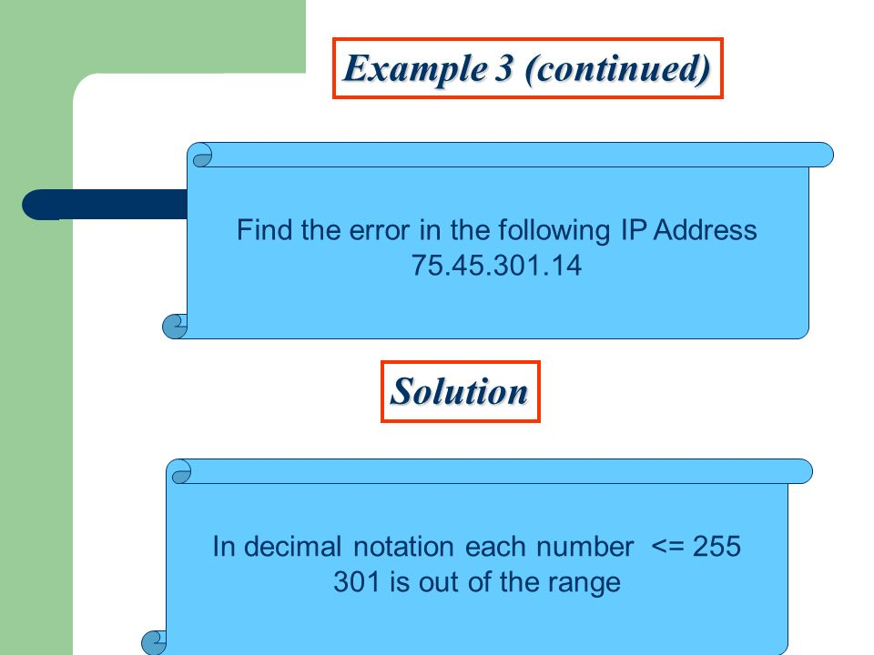 Example 3 (continued) Solution