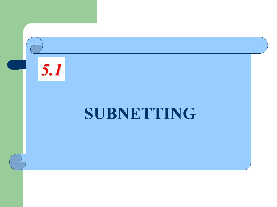 5.1 SUBNETTING