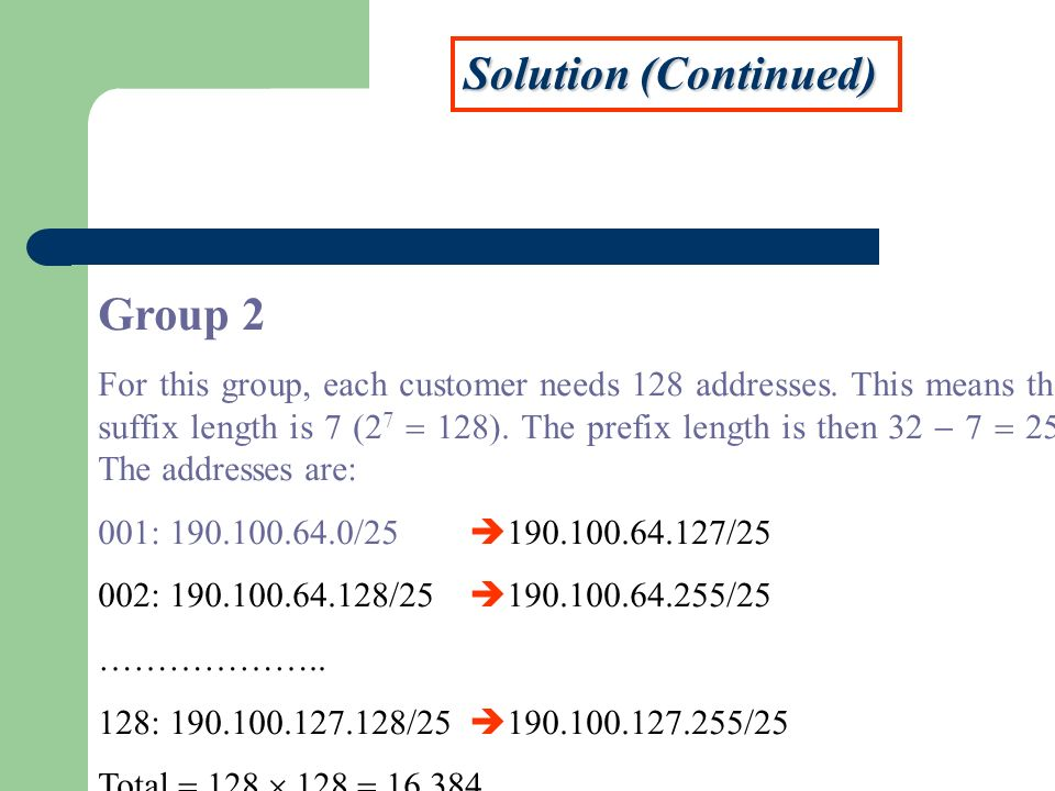 Solution (Continued) Group 2