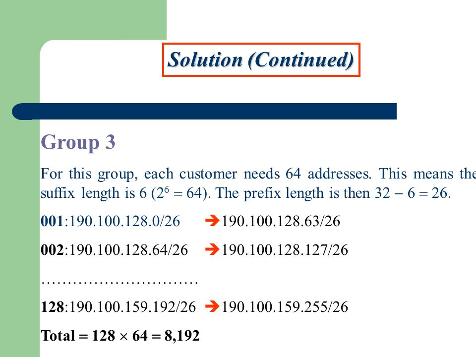 Solution (Continued) Group 3