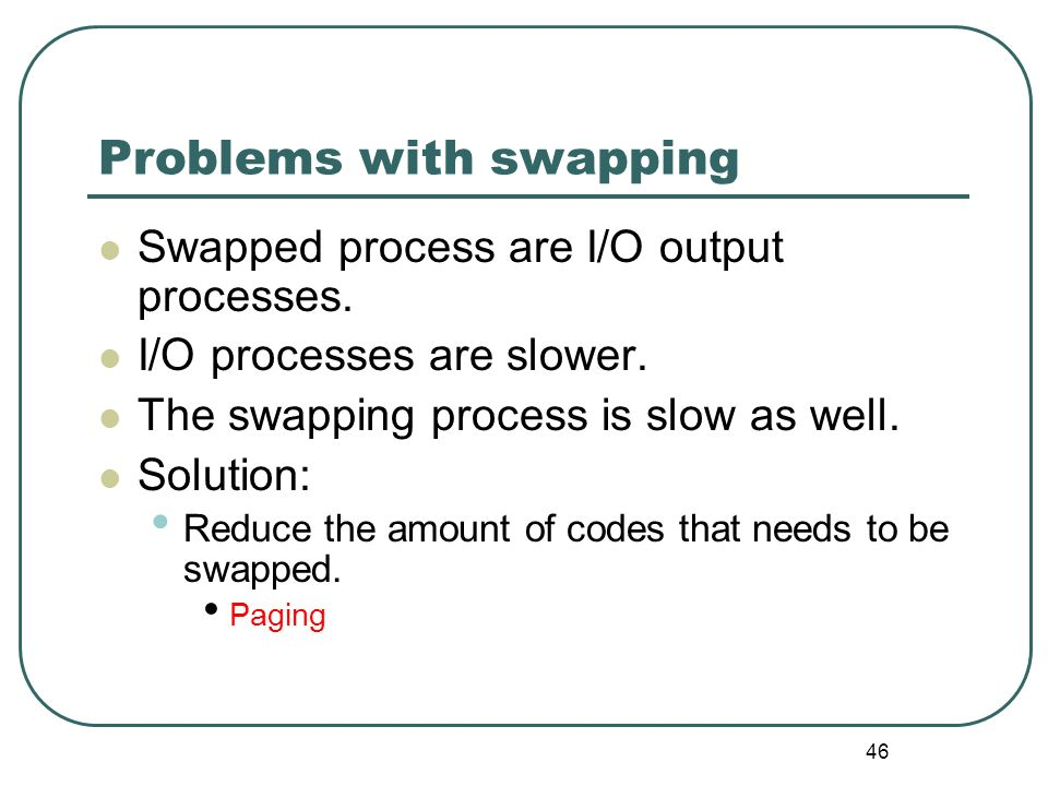 Problems with swapping